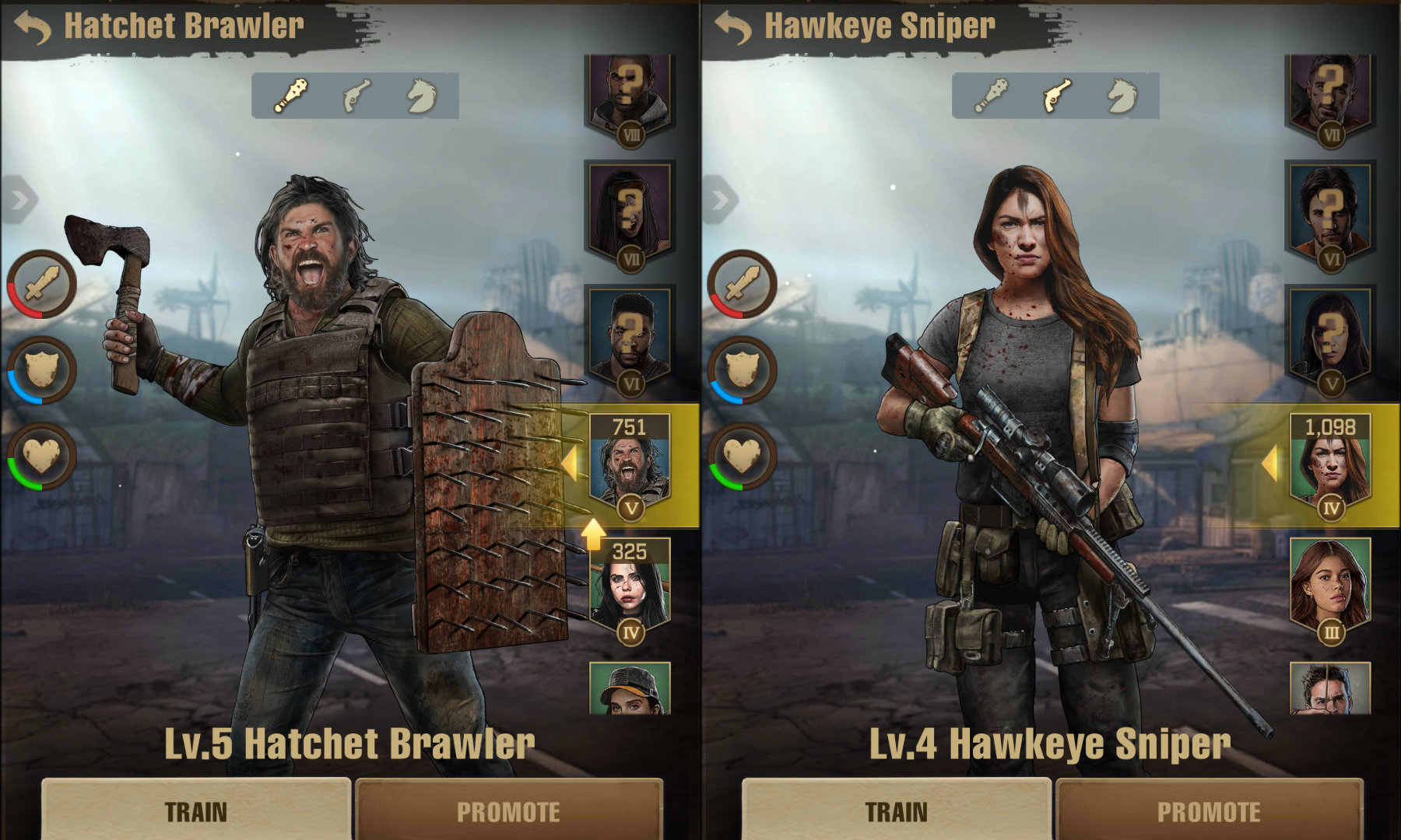 The Walking Dead Survivors Training Fighters