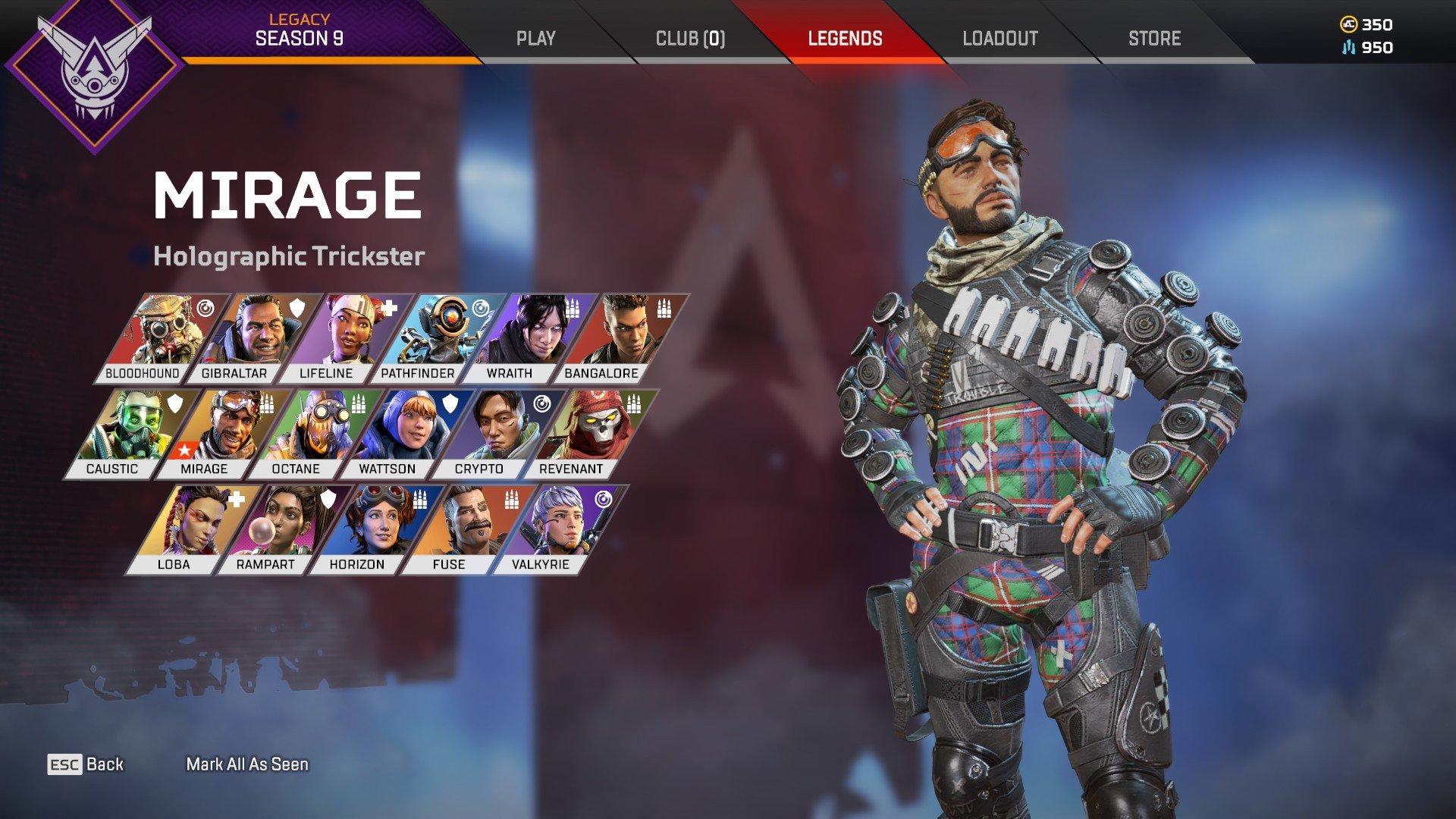 Apex Legends - Arena Mirage Character