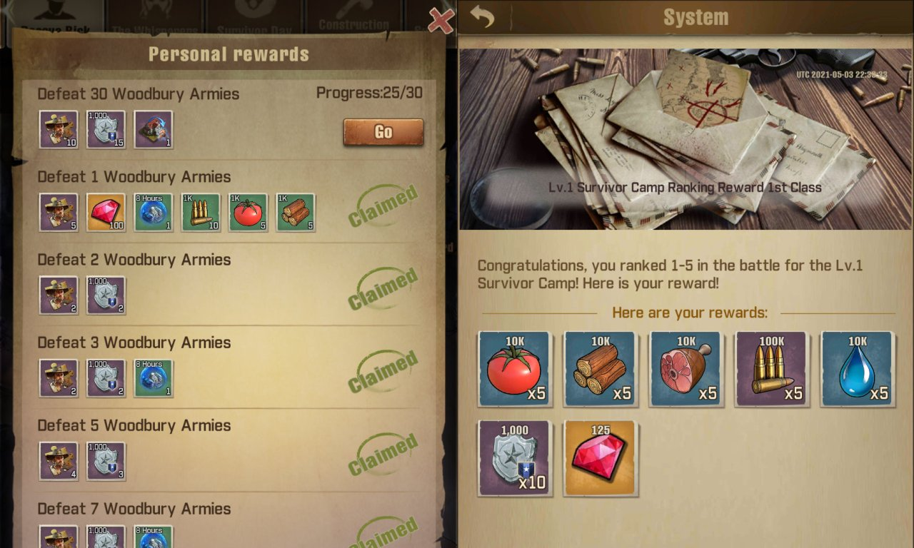 TWD: Survivors - Clan Points Screenshot