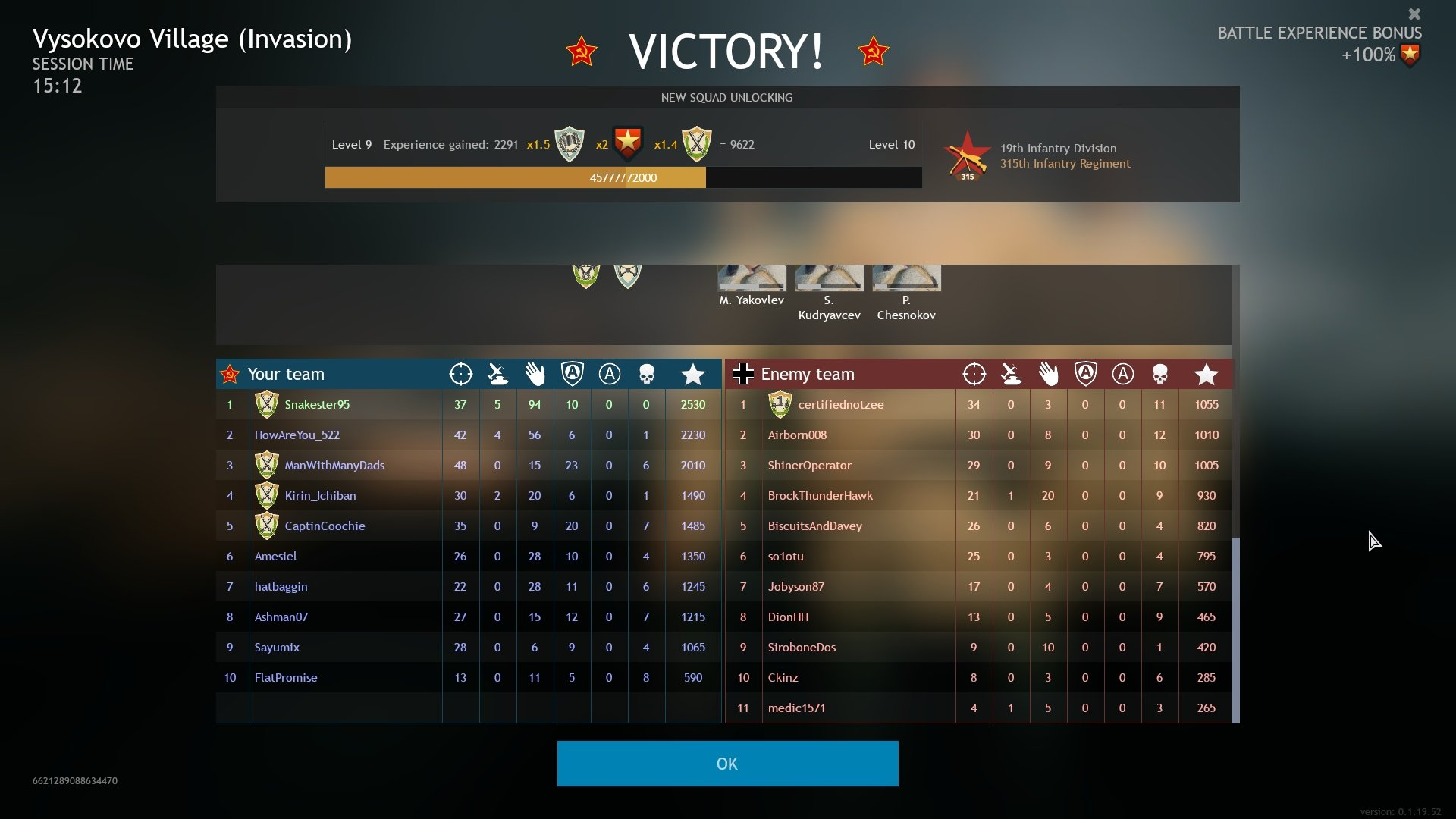 Enlisted - Tank Assists Scoreboard