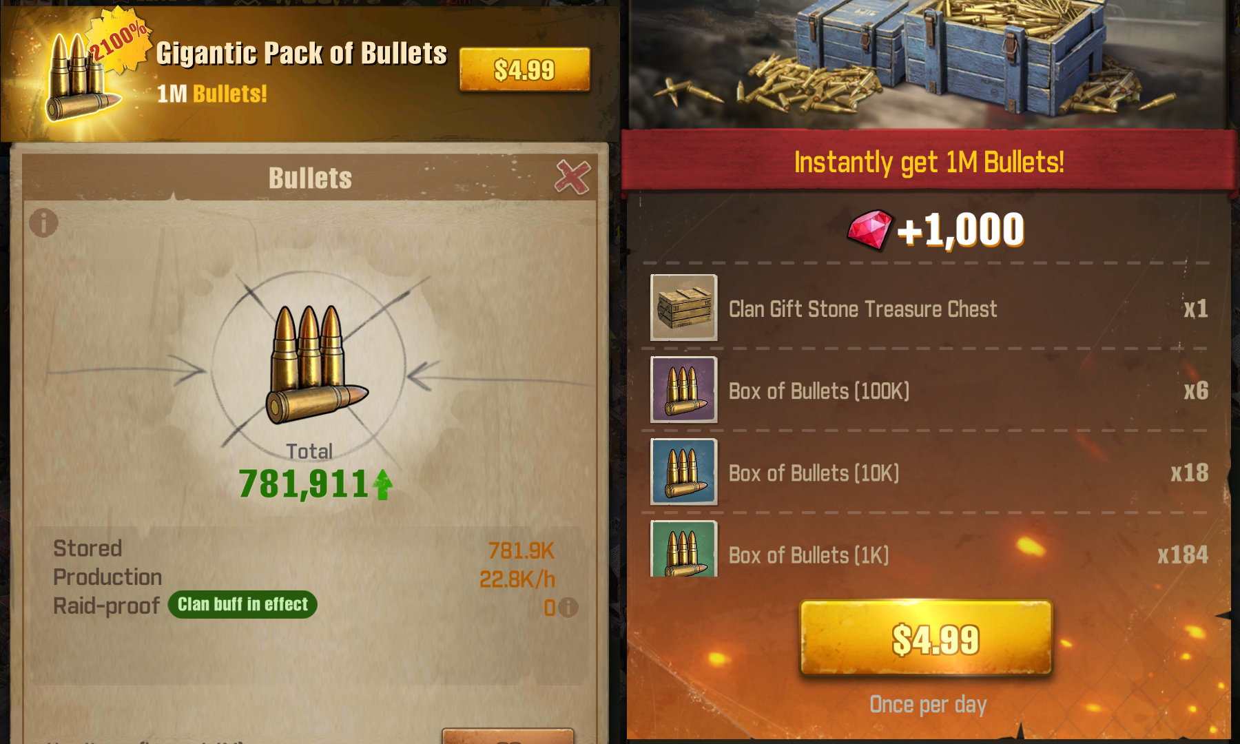 The Walking Dead Survivors - Gigantic Pack of Bullets