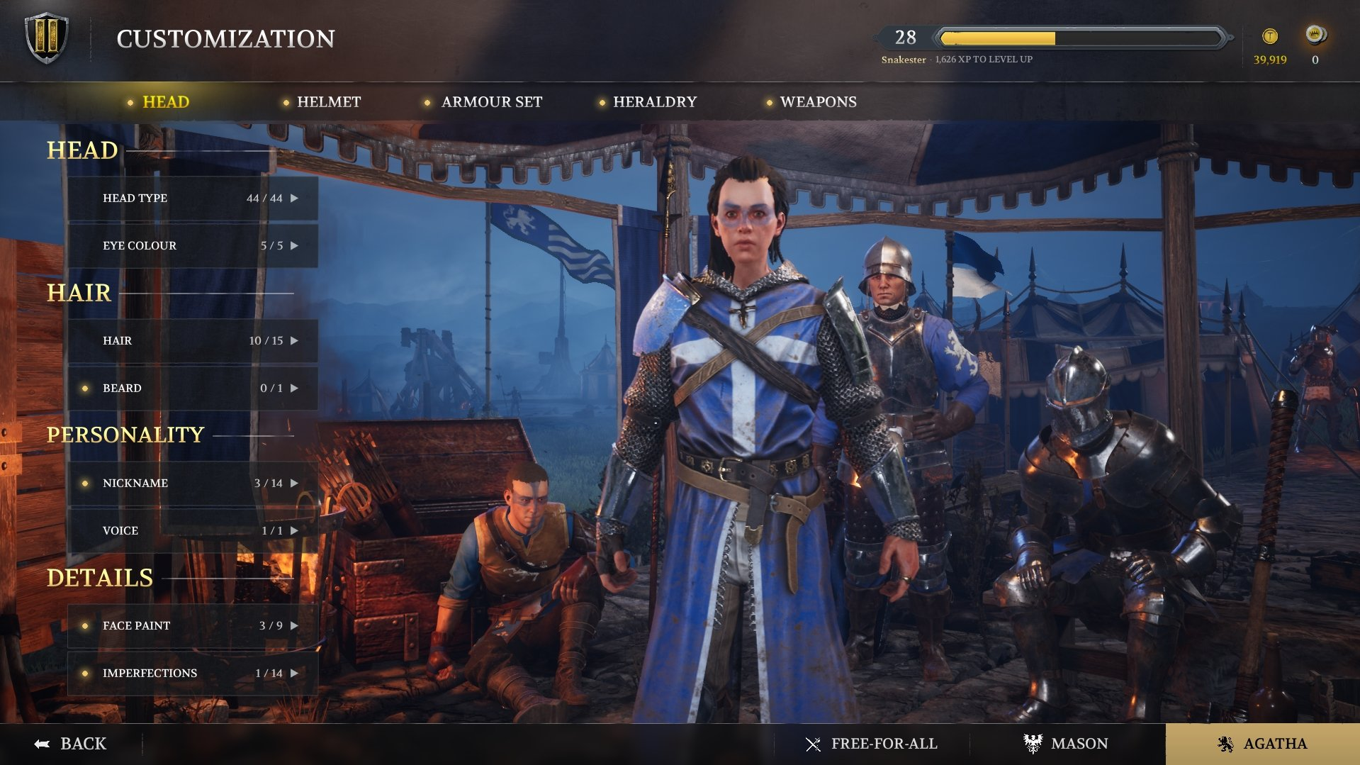 Chivalry - How to Change Appearance