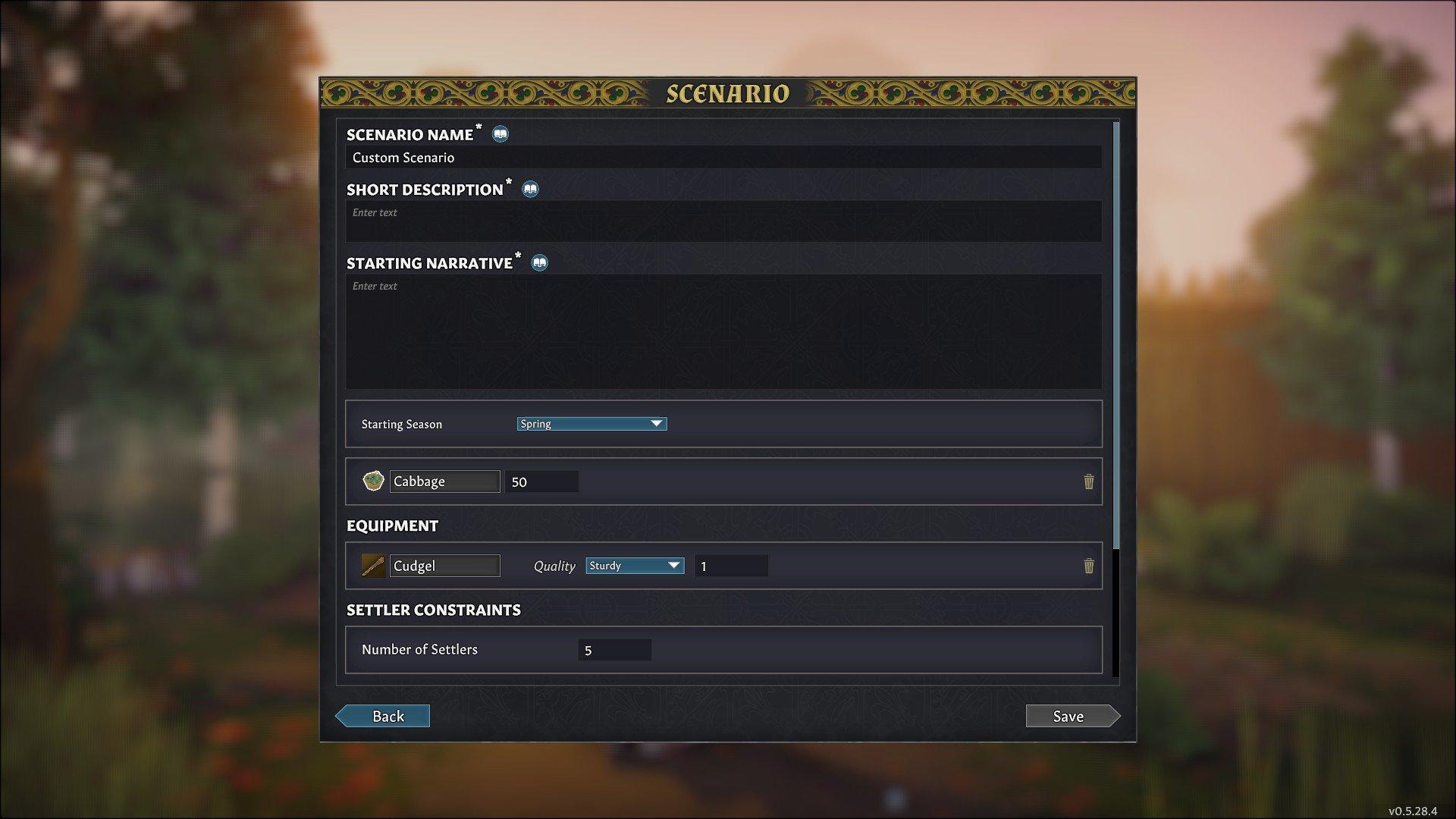 Going Medieval - Custom Scenario Settings