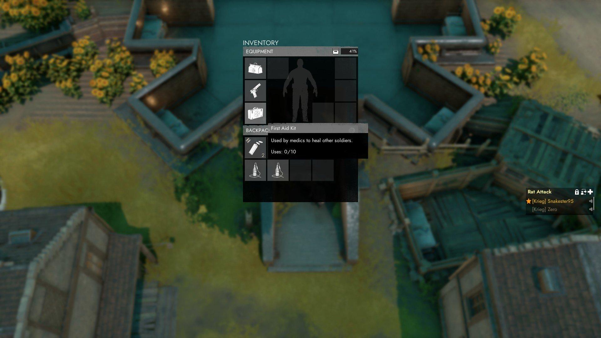 Foxhole - Medic Loadout Screenshot