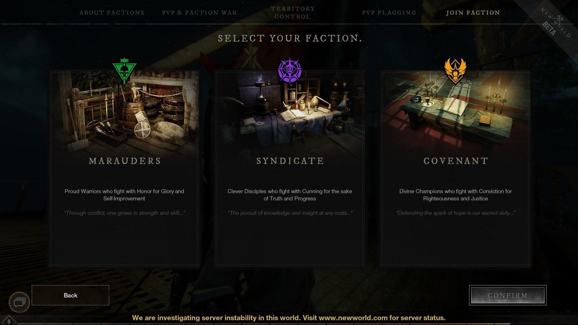 New World - Every Faction Screenshot