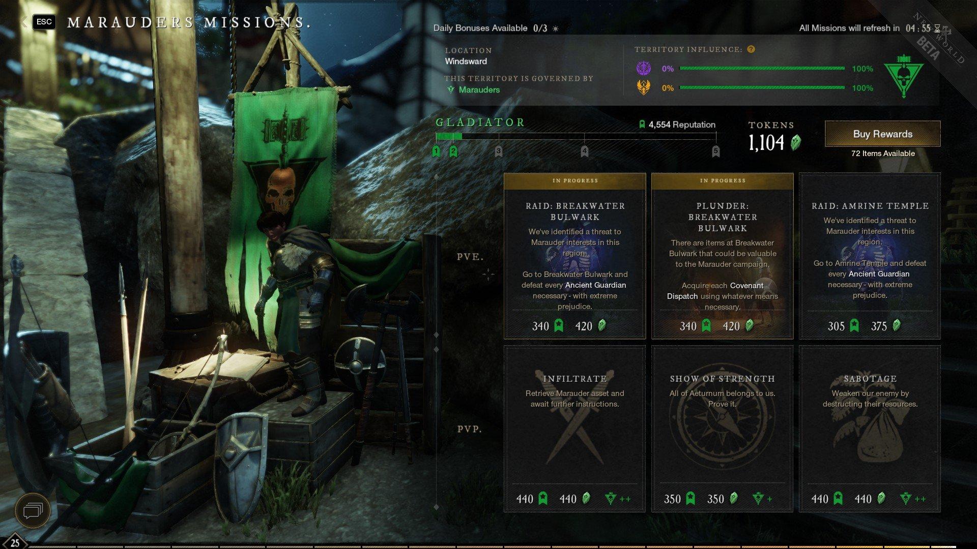 New World - Faction Bonus Missions