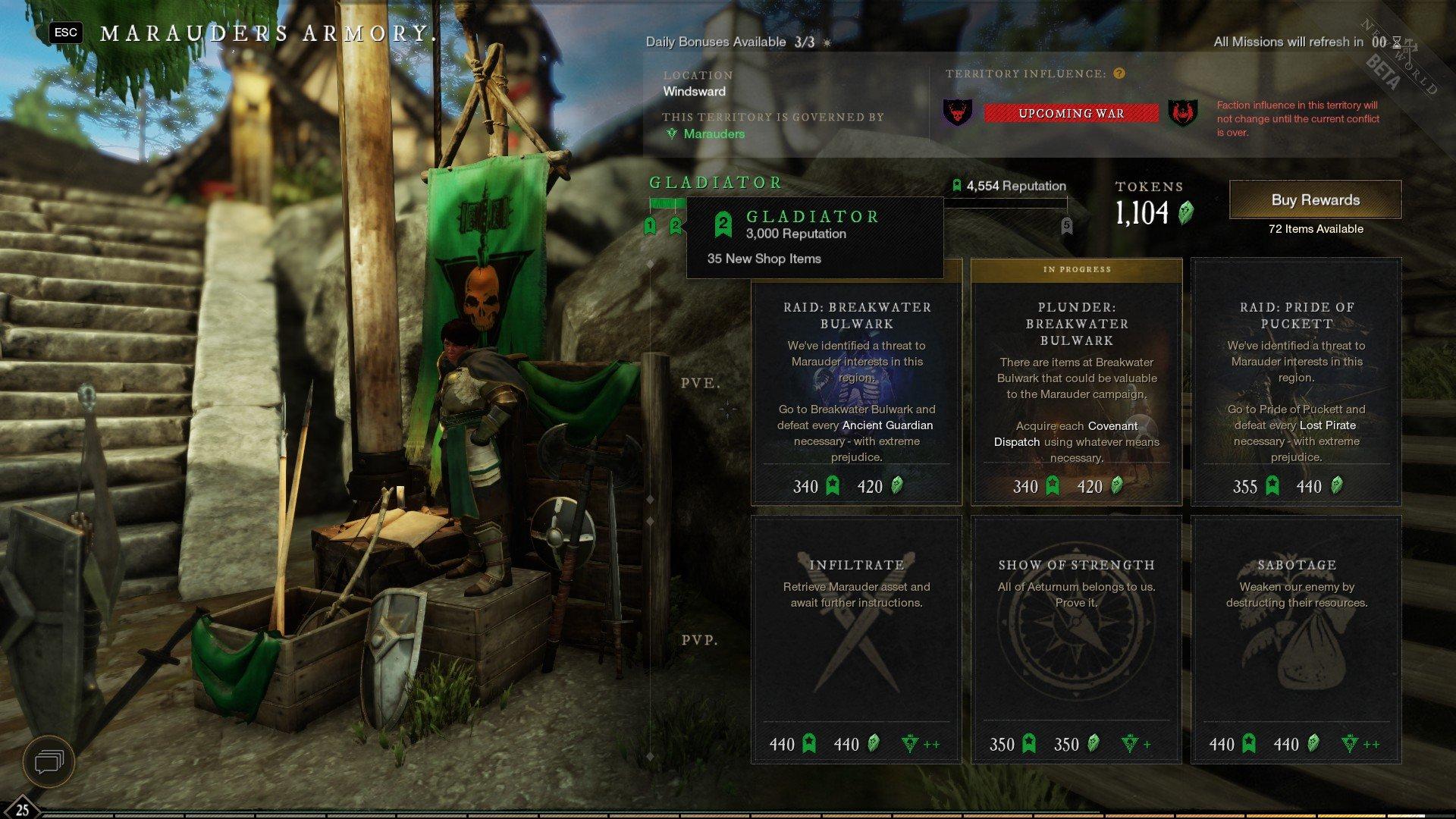 New World - Faction Rank Reputation