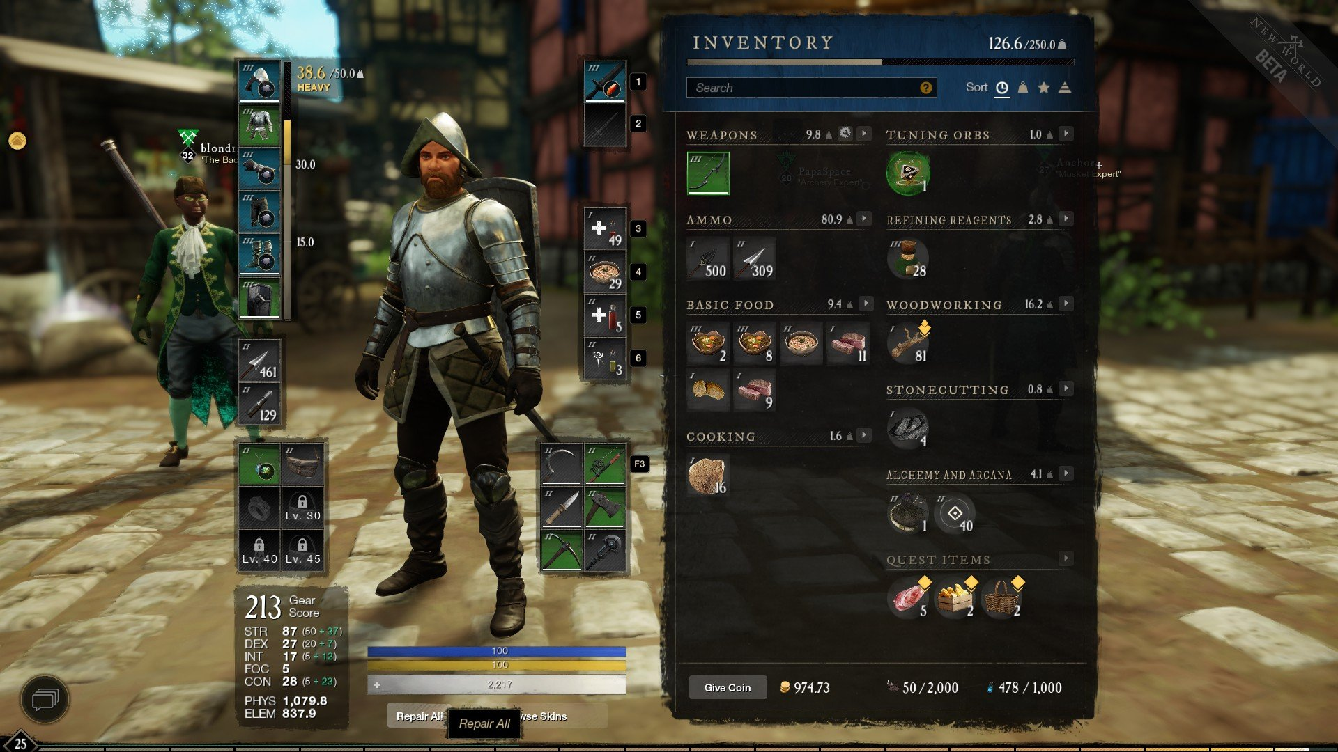 New World - Repair All Items Tip