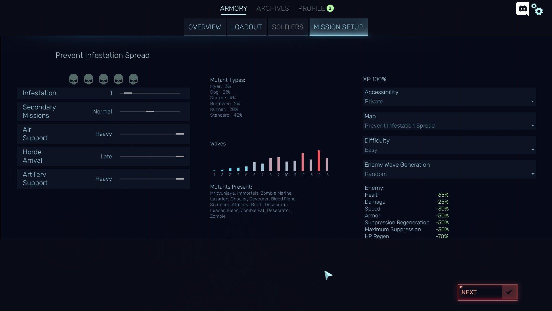 Red Solstice 2 - Mission Setup Screenshot