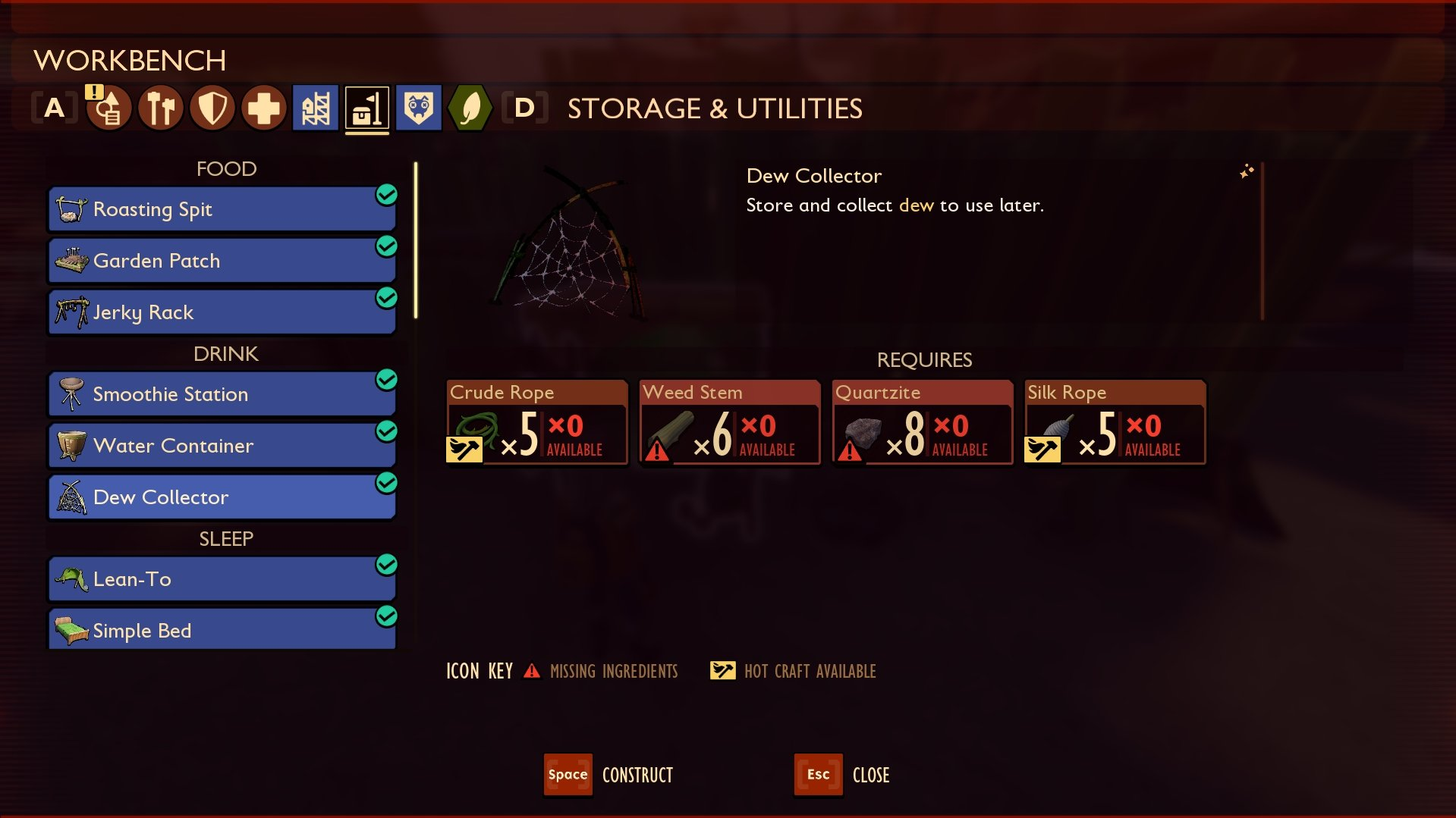 Grounded - Dew Collector Recipe