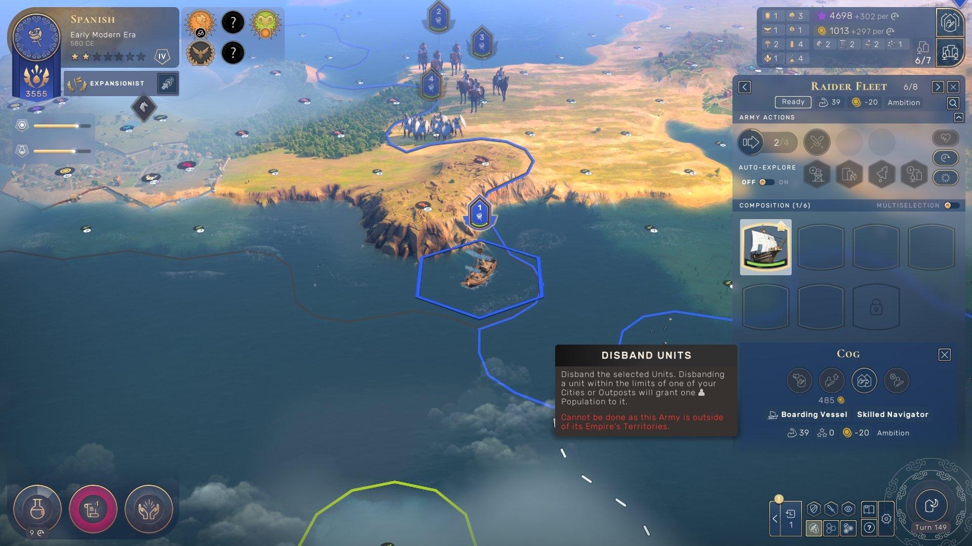 Humankind - Can't Disband Unit Screenshot