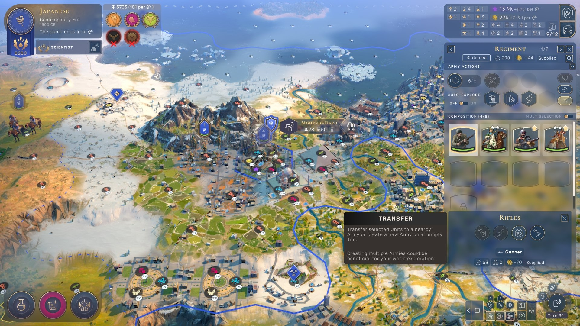 Humankind - How to Split Armies Screenshot