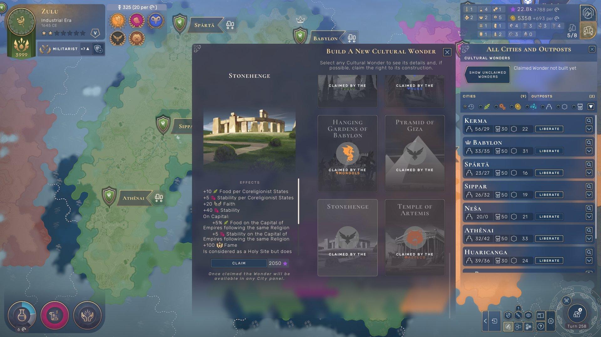 Humankind - Stonehenge Cultural Wonder Coreligionist 1