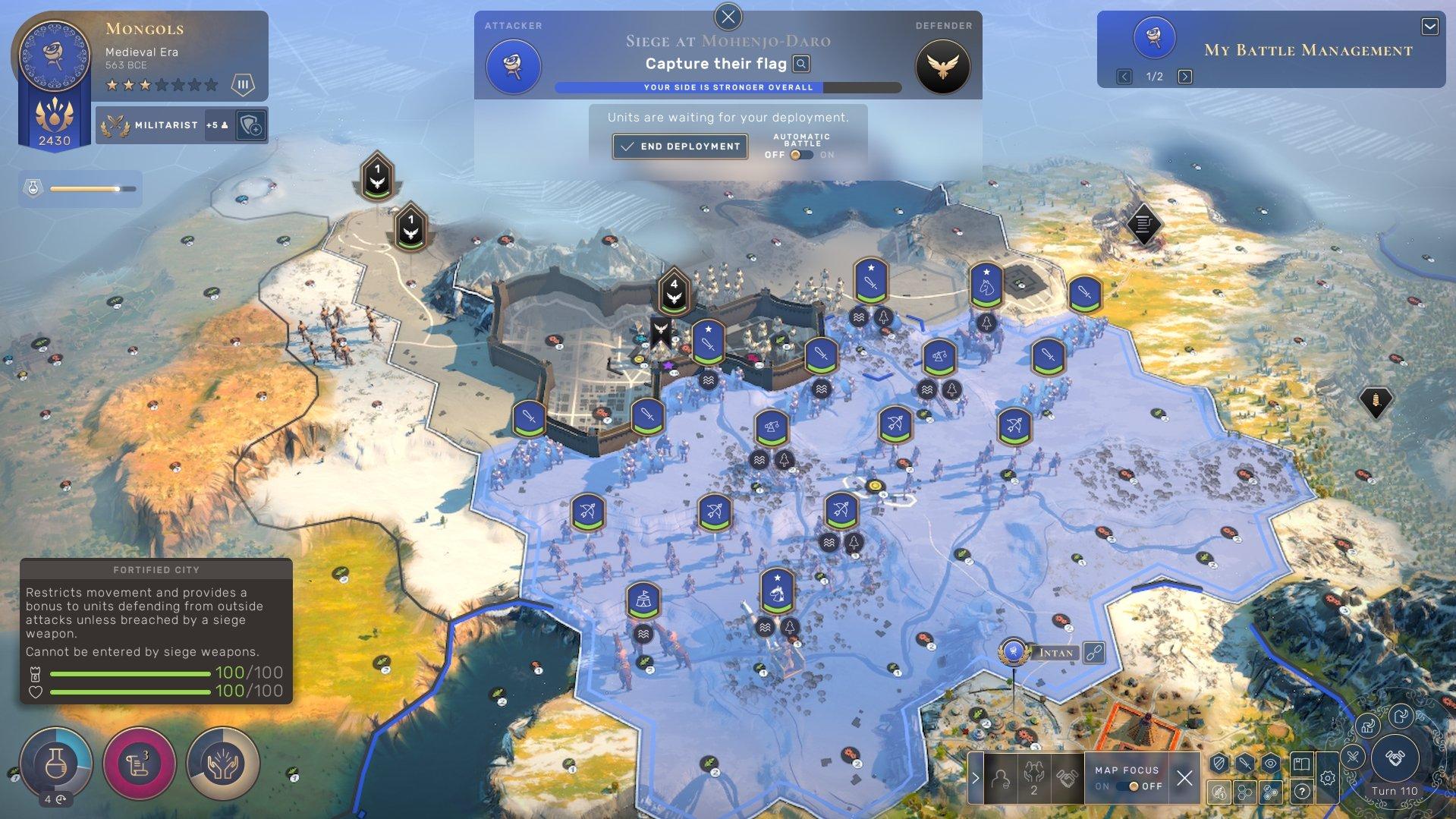 Humankind - War Support Battle Screenshot