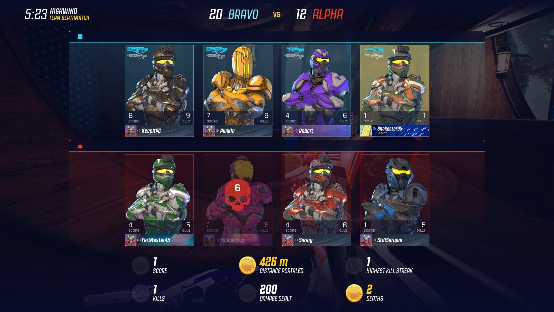 Splitgate - Bot Names Screenshot