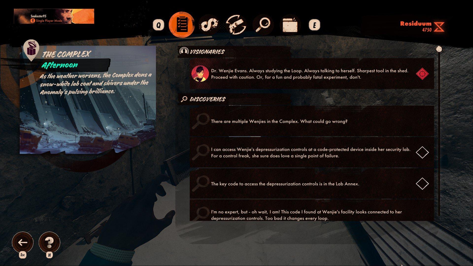 Deathloop - Journal Screenshot TIp