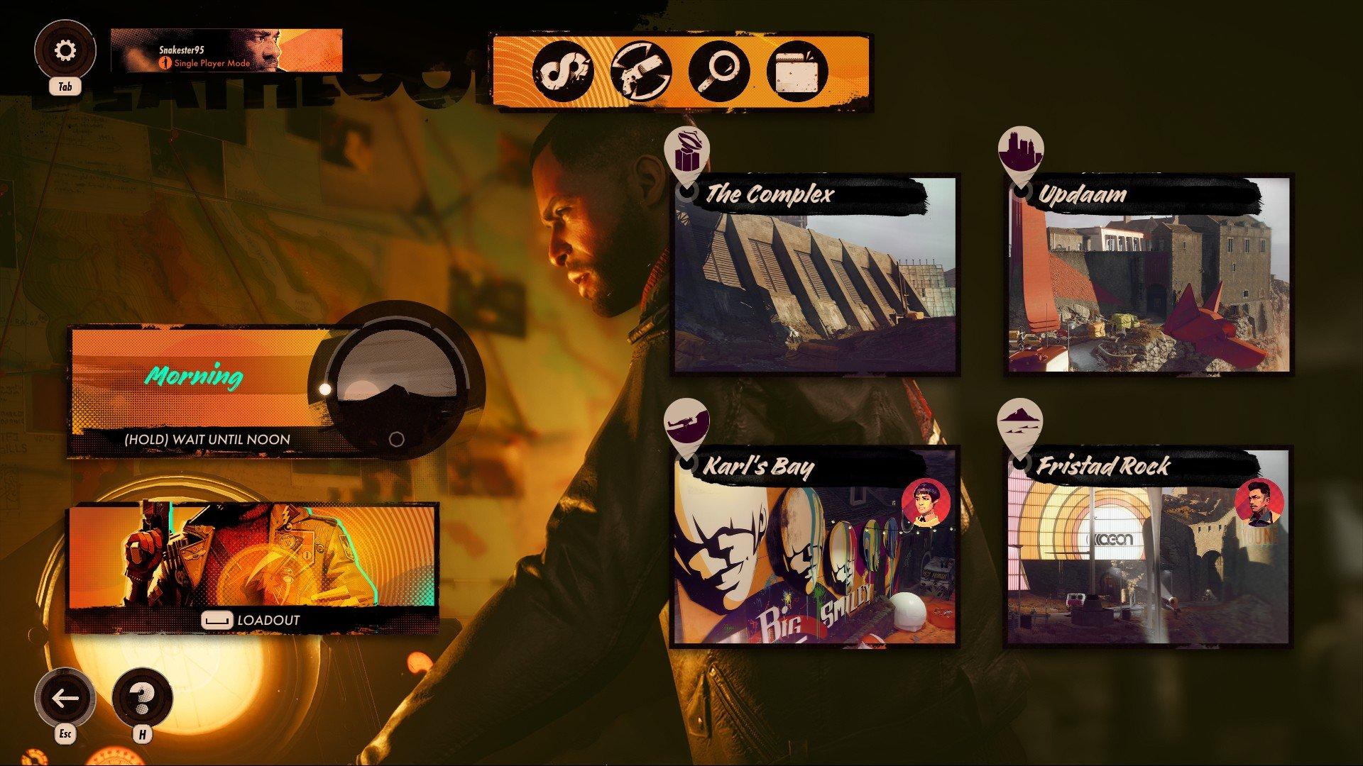 Deathloop - Menu Save Screen