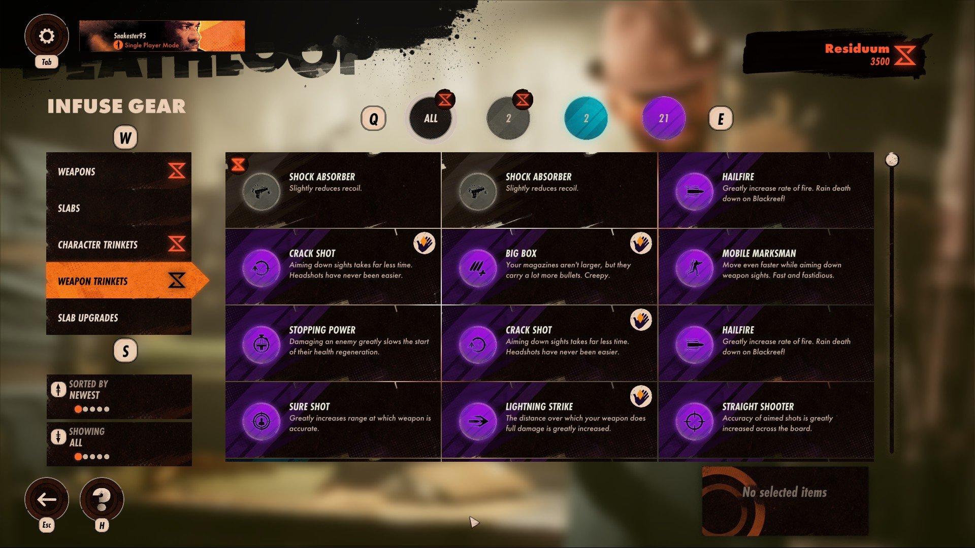 Deathloop - Weapon Trinkets Screenshot