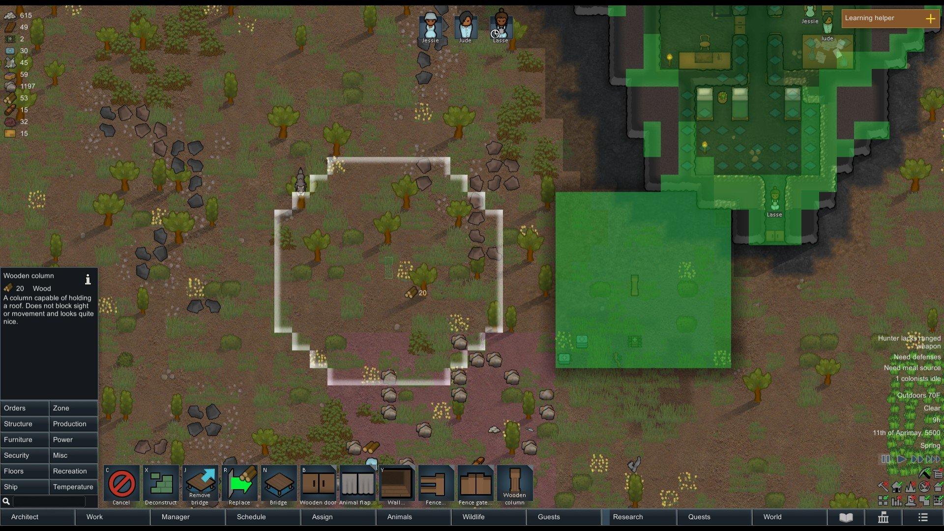 RimWorld - Column Stability Screenshot