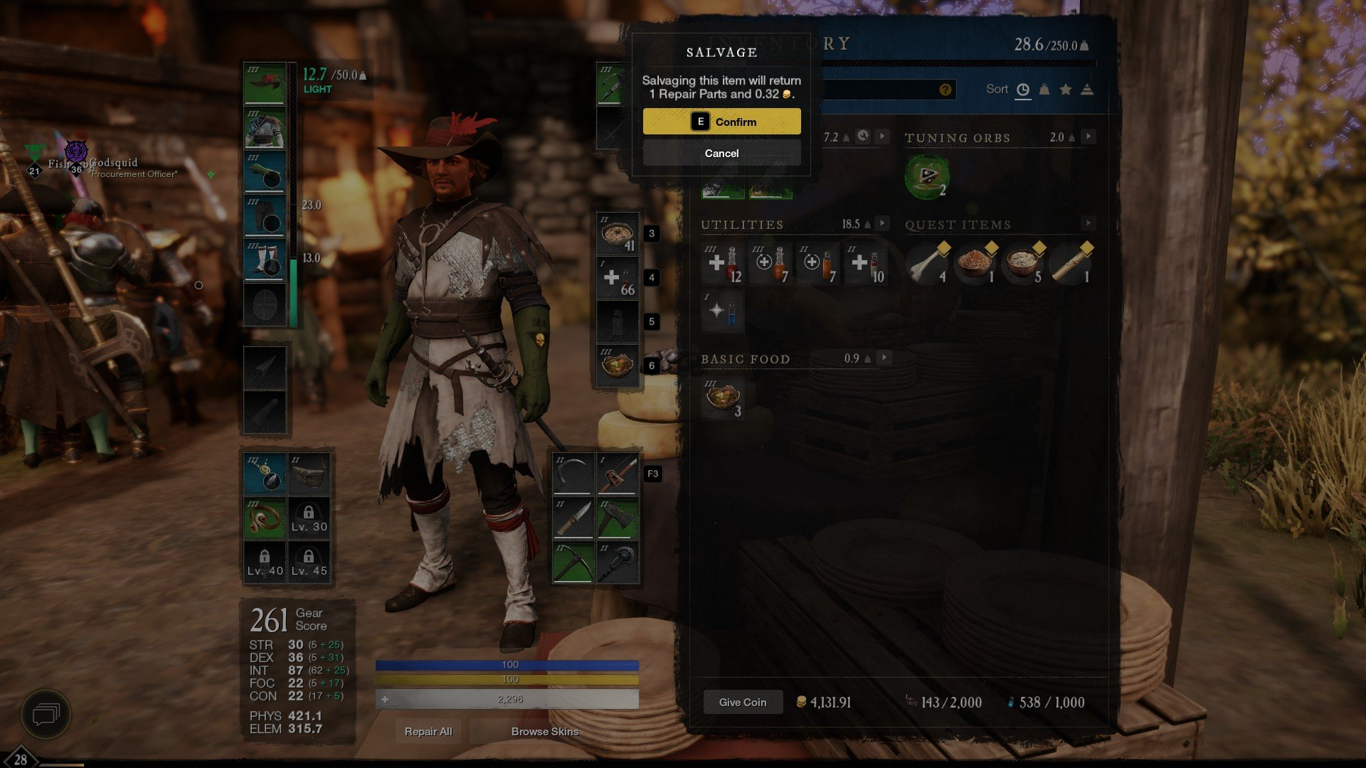 New World - How to Salvage Items