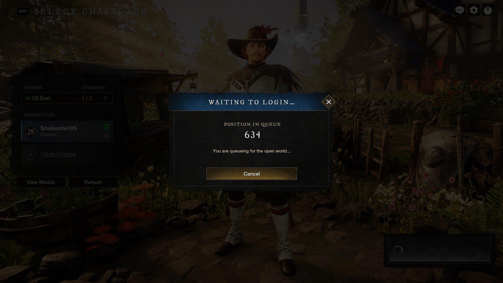 New World - Queue Position Screenshot