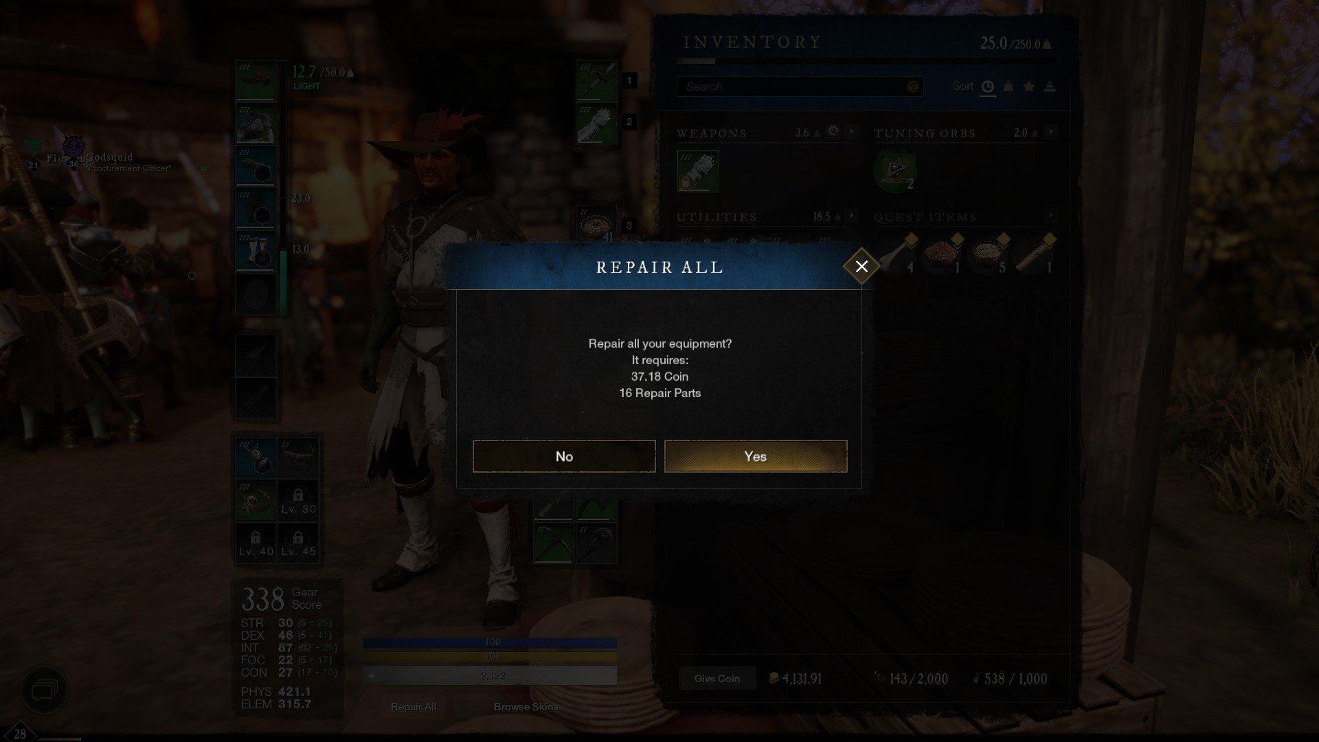 New World - Repair All Screenshot